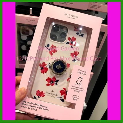 Kate Spade★リング付き Garden 12/12pro・12ProMax iPhone Case