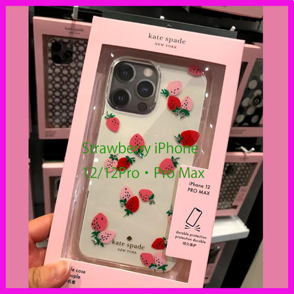 Kate Spade★いちごのデザイン 12/12pro・12ProMax iPhone Case