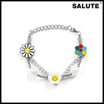 ●SALUTE● FLOWER ANARCHY PEARL CHARMS BRACELET ブレスレット