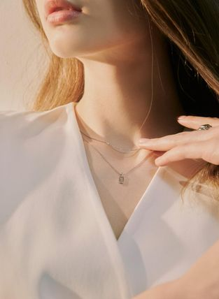 Hei ネックレス・ペンダント 韓国発【Hei】baguette layered necklace☆追跡付(3)
