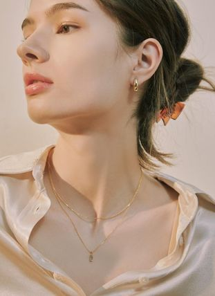 Hei ネックレス・ペンダント 韓国発【Hei】baguette layered necklace☆追跡付(6)