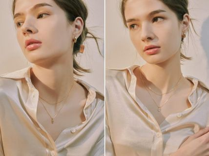Hei ネックレス・ペンダント 韓国発【Hei】baguette layered necklace☆追跡付(7)