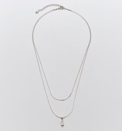 Hei ネックレス・ペンダント 韓国発【Hei】baguette layered necklace☆追跡付(10)