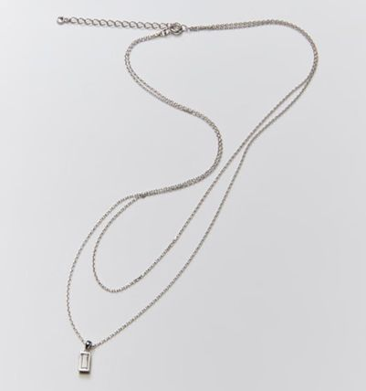 Hei ネックレス・ペンダント 韓国発【Hei】baguette layered necklace☆追跡付(11)