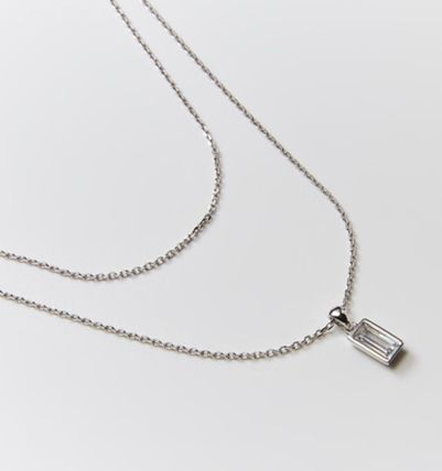 Hei ネックレス・ペンダント 韓国発【Hei】baguette layered necklace☆追跡付(12)