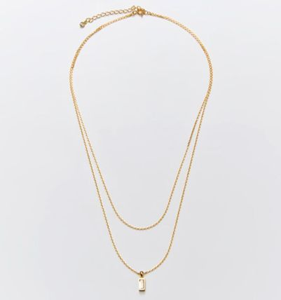 Hei ネックレス・ペンダント 韓国発【Hei】baguette layered necklace☆追跡付(13)