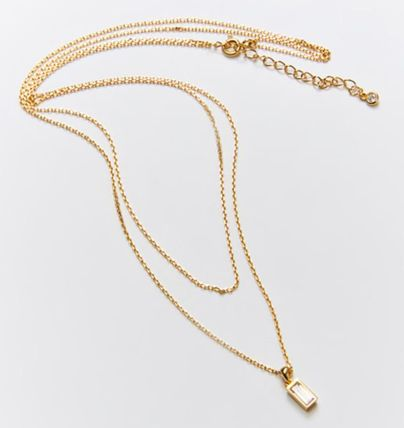 Hei ネックレス・ペンダント 韓国発【Hei】baguette layered necklace☆追跡付(14)