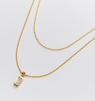 Hei ネックレス・ペンダント 韓国発【Hei】baguette layered necklace☆追跡付(16)