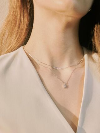 Hei ネックレス・ペンダント 韓国発【Hei】baguette layered necklace☆追跡付(17)