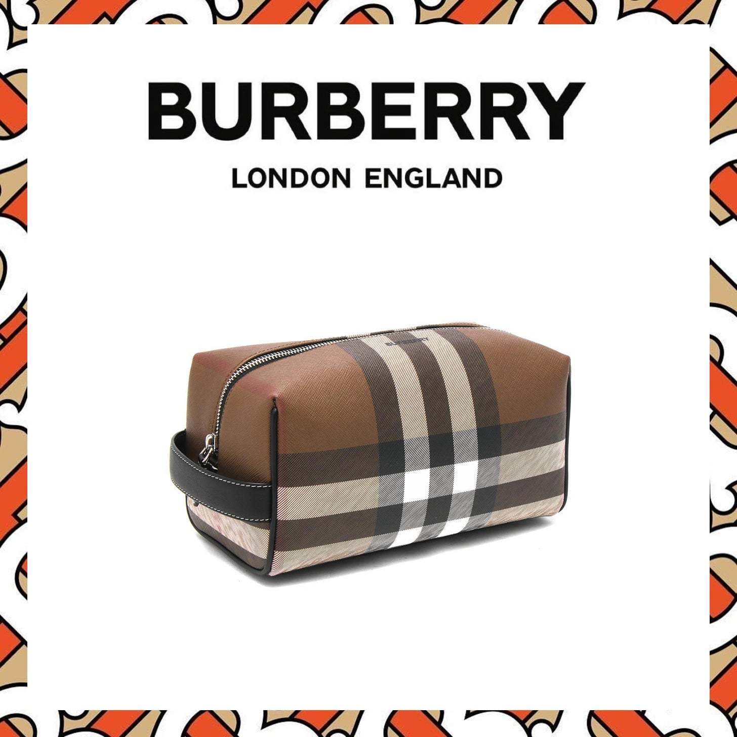 ★BURBERRY★ GIANT CHECK セカンドバッグ (Burberry/クラッチバッグ) 66256321