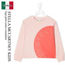 Stella Mccartney Kids logo print cotton sweatshirt