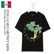 Stella Mccartney Kids Palm Logo print cotton t-shirt