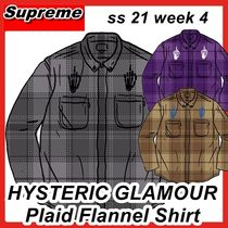Supreme X HYSTERIC GLAMOUR Plaid Flannel Shirt ss 21 week 4