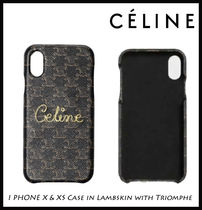 【CELINE】I PHONE X & XS Case in Lambskin with Triomphe