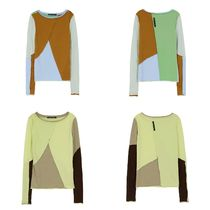 ★Andersson Bell_JAY RAW-CUT MULTI COLOUR JERSEY TOP★