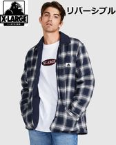 【X-Large】リバーシブルチェックジャケットREVERSIBLE QUILTED