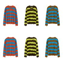 ★Andersson Bell_UNISEX DESTROYED STRIPE CABLE SWEATER★