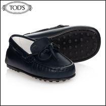 TOD'S(トッズ) ベビーバレエシューズ・フラットシューズ 【TOD'S】 Navy Blue Leather Moccasins