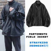 PARTIMENTO☆韓国☆[Vegan Leather] Field Jacket Black