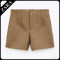 ★ZARA★ HIGH-WAIST BERMUDA SHORTS