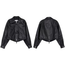★Andersson Bell_SHOREDICH GOAT LEATHER CROP JACKET★
