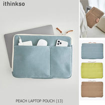 ithinkso(アイシンクソー) デザイン文具・ステーショナリその他 ithinkso■PEACH LAPTOP POUCH ラップトップポーチ 13インチ