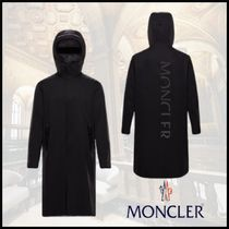 【MONCLER】ロング/ナイロンパーカー/バッグロゴ/フード