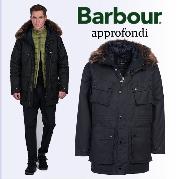Barbour【 】RACE WAXED パーカー ジャケット 黒 (Barbour/アウターその他) 66305798