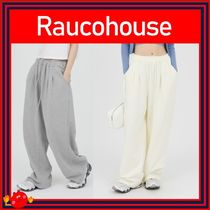 [RAUCOHOUSE]Two pintuck wide sweat pants ◆4色◆兼用◆追跡付