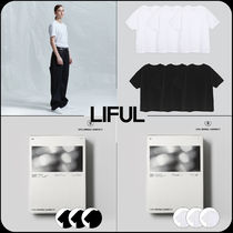 LIFUL(ライフル) Tシャツ・カットソー 【 LIFUL 】★韓国大人気★3PACK Standard Basic Fit T-Shirt