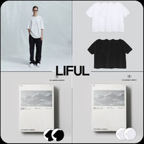 LIFUL(ライフル) Tシャツ・カットソー 【 LIFUL 】★韓国大人気★2PACK Relax Over Fit T-Shirt