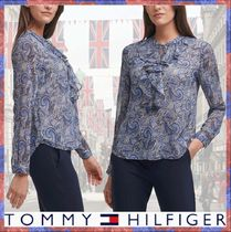 Tommy Hilfiger◆ペイズリープリント フリルブラウス◆完売早