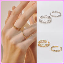【Hei】coral set ring〜リング2点セット★2021春コレクション