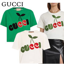 GUCCI【関税込み*送料無料】2021SS チェリー刺繍ロゴTシャツ
