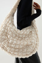 """COS(コス) ショルダーバッグ・ポシェット """"COS"""" ☆POLYESTER QUILTED OVERSIZED SHOULDER BAG(white)"""