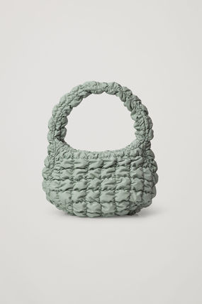 """COS""新作 ☆QUILTED MINI BAG(dusty green)"