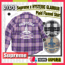 【21SS】SUPREME x HYSTERIC GLAMOUR Plaid Flannel Shirt