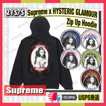 【21SS】SUPREME x HYSTERIC GLAMOUR Zip Up Hooded Sweatshirt