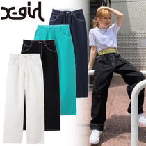 【X-girl】【人気商品!】4色展開* WIDE TAPERED PANTS ♪