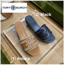 【 Tory Burch 】●サンダル●STITCHED LOGO 30MM SLIDE SANDAL