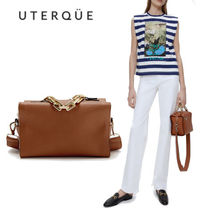 【Uterque】LEATHER BOWLING BAG
