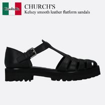 Church's(チャーチ) サンダル・ミュール Church'S Kelsey smooth leather flatform sandals