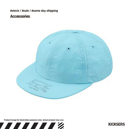 2021SALE即発送!Supreme Nylon 6 pannel Light Blue Cap