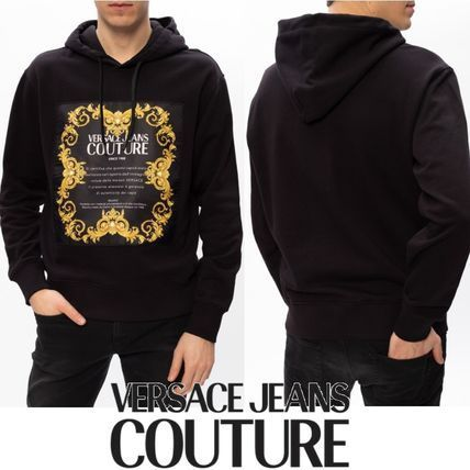 VERSACE JEANS COUTURE☆ゴールドトーンロゴフードパーカー☆T (VERSACE JEANS/パーカー・フーディ) 66359494