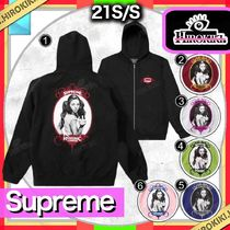 21SS /Supreme HYSTERIC GLAMOUR Zip Up Hooded Sweatshirt