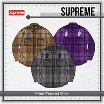 {Supreme} Plaid Flannel Shirt 送料関税込