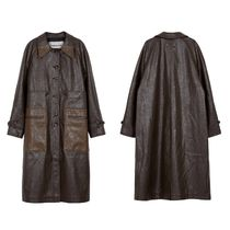 ★Andersson Bell_AMBER FAUX LEATHER COMBO COAT★
