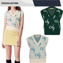 ★2021SS新作★OiOiCOLLECTION★LOGO KNIT VEST_2色