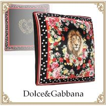Dolce & Gabbana(ドルチェ&ガッバーナ) クッション・クッションカバー Dolce&Gabbana☆Silk pillow with lion mix print Multicolor
