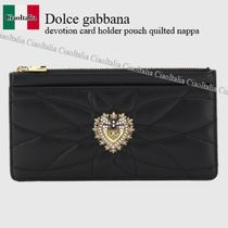 Dolce gabbana devotion card holder pouch quilted nappa